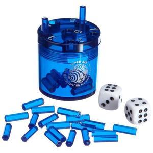 BestSaller 3012 - Super Six ABS Kunststoff, blau, 36 Spielstäbchen & 2 Würfel