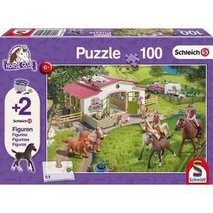 Schleich, Ausritt ins Grüne (Kinderpuzzle) + 2 Figuren