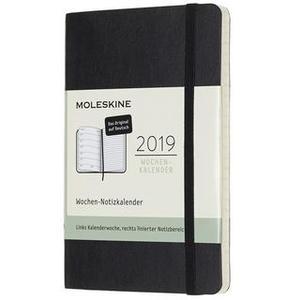 Moleskine 12 Monate Wochen Notizkalender Deutsch 2019, Pocket/A6