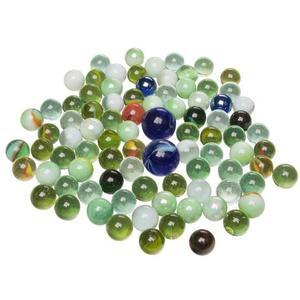 Goki Glasmurmeln, im Netz, Farb- und Größen-Mix