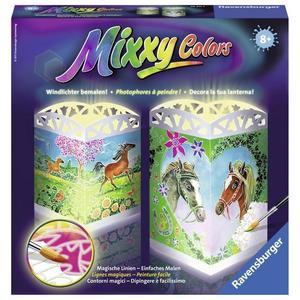 Ravensburger 294114 - Mixxy Colors - Windlichter - Zauberhafte Pferde - Malen nach Zahlen, MNZ