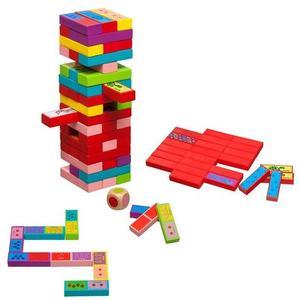 Philos 3289 - Verflixter Turm 3 in 1, Wackelturm, Domino, Pairs, Strategiespiel, Geschicklichkeitsspiel