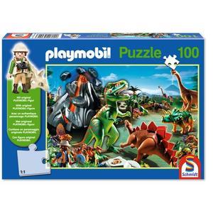 Playmobil: Im Dinoland mit original Figur, Puzzle
