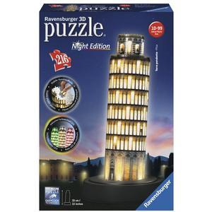 Ravensburger Schiefer Turm von Pisa bei Nacht - 3D-Puzzle mit LED