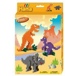Hama Bügelperlen Dinosaurier