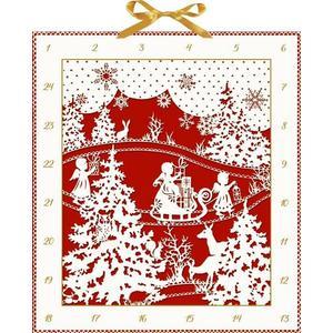 Weihnachtlicher Scherenschnitt. Wand-Adventskalender