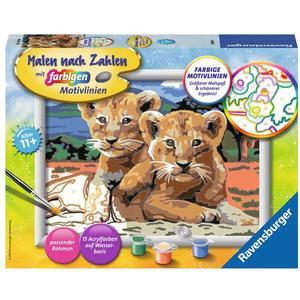Ravensburger Kleine Löwenbabys - Malen nach Zahlen, MNZ