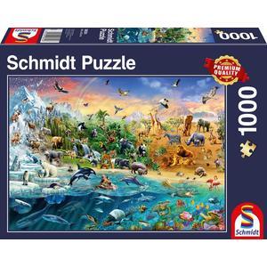 Schmidt 58324 - Die Welt der Tiere, Puzzle,
