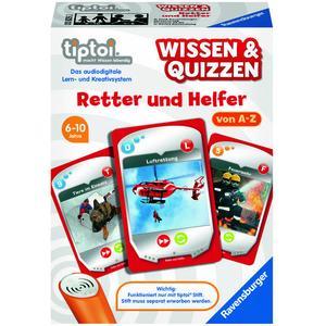 Ravensburger 00829 - tiptoi® Wissen & Quizzen, Retter und Helfer, Kartenspiel
