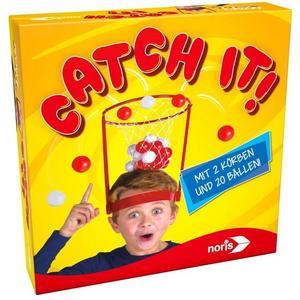 Noris 606011699 - Catch It!, Gesellschaftsspiel, Wurfspiel, Geschicklichkeitsspiel