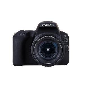 CANON EOS 200D schwarz mit Objektiv EF-S 18-55mm 3.5-5.6 III