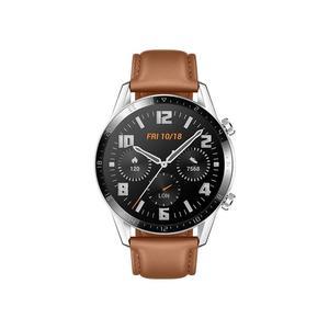 HUAWEI Watch GT 2 Classic 46mm silber, Leder, pebble brown