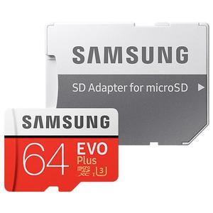 SAMSUNG microSDXC EVO Plus [2017] 64GB Kit, UHS-I U3, Cl.10