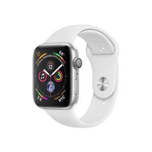 APPLE Watch Series 4 GPS, 44mm Silver Aluminium Case with