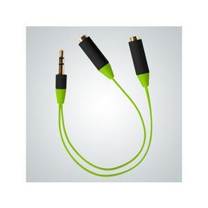 Audio Splitter Kabel, green