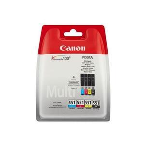 Patrone CANON CLI-551 Tinte Multipack schwarz und dreifarbig