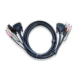 KVM Kabelsatz, ATEN DVI+USB+Audio, 2L-7D02U , Länge 1,8m