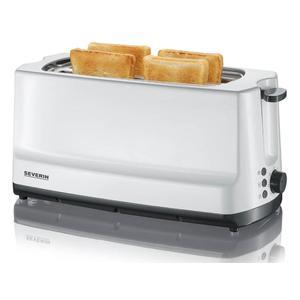 SEVERIN AT 2234 Langschlitz-Toaster, 4 Scheiben, weiß
