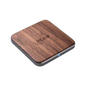 INLINE Qi wireless Woodcharge, 5/7/10 Watt, fast charger