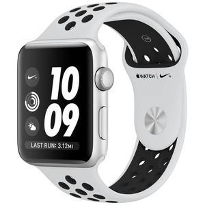 APPLE Watch Nike+ GPS, Aluminium silber 42 mm mit Nike