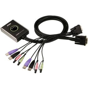 KVM Switch, 2-fach, ATEN CS682, DVI-D, USB, Audio,