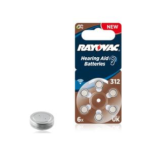 RAYOVAC 312 Acoustic Special, 6er-Pack