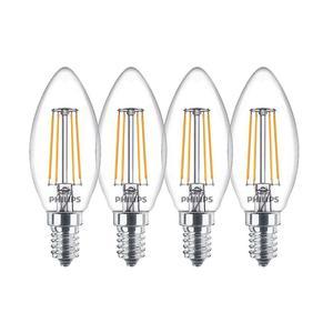 PHILIPS LED Classic E14 6,5W (60W) WW 806lm klar Kerze 4er