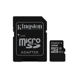 KINGSTON Canvas Select microSDHC 16GB Kit,UHS-I U1/Class 10