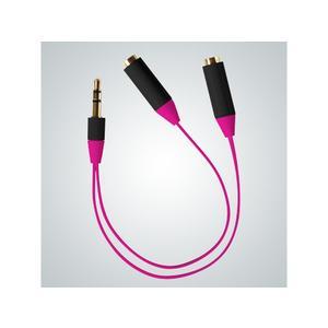 Audio Splitter Kabel, pink
