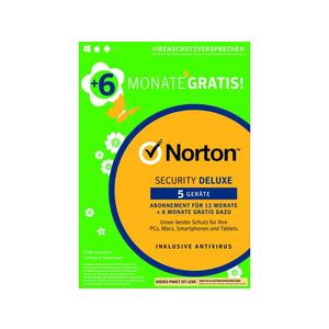 NORTON Security Deluxe 3.0, 5 User, 12+6 Monate