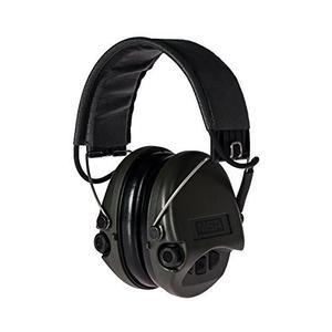 Supreme BASIC mit Aux-Eingang und grauem Lederband SOR75301 SNR: 25 - Aktiver Gehörschutz Gehörschutzkapsel Kapselgehörschutz
