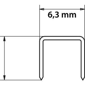 TACKERKLAMMERN 10X0,5X7mm #F-81518
