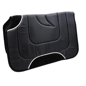 T.M Westernpad mit Widerristausschnitt und Lederverstärkung schwarz