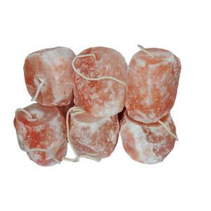 Leckstein Salzleckstein Mineralleckstein für Pferde mit Kordel, ca. 1 bis 1,5 kg SET mit 6 Stück