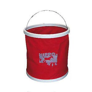 Falteimer 11 Liter Wassereimer rot Ködereimer faltbar für Camping Angeln Tiere Boot