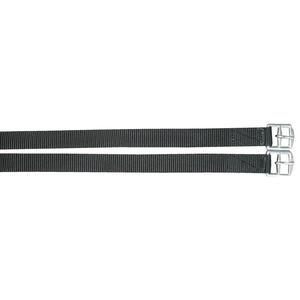AMKA Steigbügelriemen aus Nylon für Kinder und Jugendliche schwarz, 123 cm