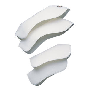 Bandagenunterlagen in Beinform, weiß, 4er Set, Gr. Vollblut/Haflinger