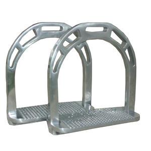 AMKA Aluminium Steigbügel ALU- extra leicht silberfarben Trittfläche 11,5 cm