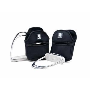 HorseGuard Steigbügelschoner Steigbügelhülle Neopren Steigbügelschutz aus Neopren Paar schwarz