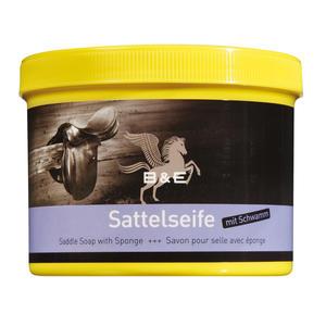 B & E Sattelseife mit Schwamm, 500 ml reinigt pflegt konserviert Lederreinigung