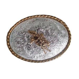 Gürtelschnalle Bronco Reiter Wechselgürtel Buckle Western Rodeo Concho Cowboy Gürtel