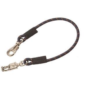 Elastik Anbinder 75 cm mit Panikhaken und Bull snap für Pferdeanhänger 1 Stück