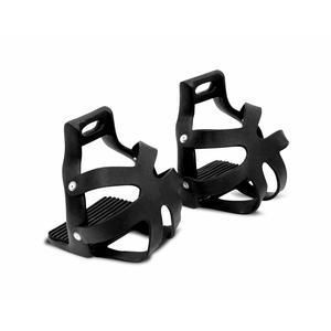 Steigbügel mit Korb aus Metall, breite Trittfläche Farbe: schwarz