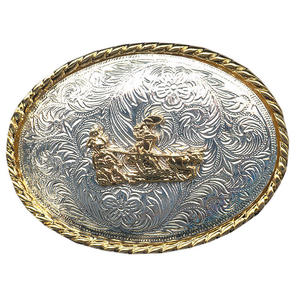 Gürtelschnalle Steer Wrestler Wechselgürtel Buckle Western Rodeo Concho Cowboy Gürtel