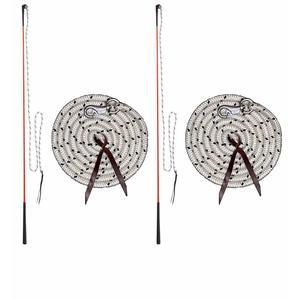 AMKA Bodenarbeit Set mit je 2 Stück Kontaktstock mit Seil und 2 Stück Bodenarbeitseil Pferde Bodenarbeit DOPPELPACK