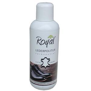 Royal Lederpflege - Lederpolitur mit Carnaubawachs und Teebaumöl 250 ml für alle Farben und Glattleder geeignet, langanhaltender, natürlicher Glanz