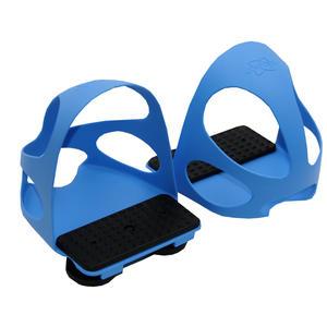 Steigbügeleinlage mit Durchrutschschutz 1 Paar = 2 Stück für Kinder blau
