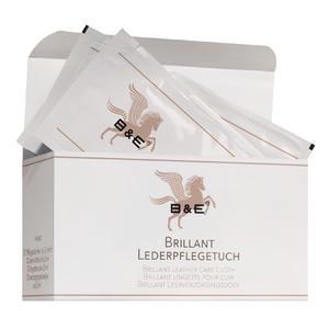 B & E Brillant Lederpflegetücher Karton mit 12 Stück für Unterwegs Lederpflege Weichmacher