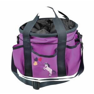 Waldhausen Putztasche Einhorn - Unicorn für Kinder- Striegeltasche mit vielen Taschen