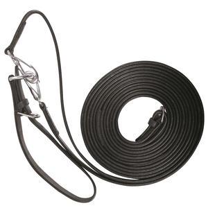 Lederschlaufzügel mit Karabiner und Lederschlaufe Schlaufzügel Leder 2,10 m schwarz